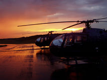 Helicopters stock photography
