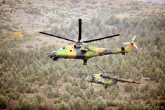 Helicopters in action  Royalty Free Stock Image