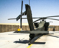 Helicopters in Afghanistan. Combat helicopters in Afghanistan in 2017 stock photography