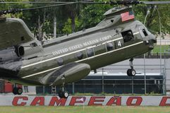 Helicopters of the American air force stock photos