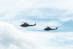 Helicopters of the Canadian Army Stock Image