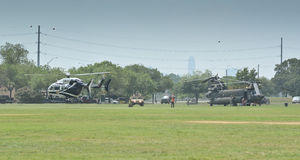 Helicopters display Royalty Free Stock Photography