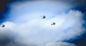 Helicopters EC 135 of the Gendarmerie Nationale Royalty Free Stock Image
