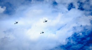Helicopters EC 135 of the Gendarmerie Nationale Stock Photography
