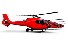 Helicopters fleet Stock Photography