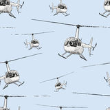 Helicopters in the flight Royalty Free Stock Photos