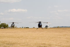 Helicopters on the ground Royalty Free Stock Image