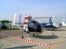 Helicopters at MAKS airshow Royalty Free Stock Photo