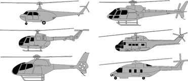 Helicopters pack Royalty Free Stock Image