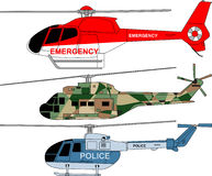 Helicopters pack Stock Photo