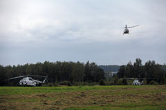 The helicopters the President of Russia Royalty Free Stock Images