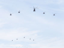 Helicopters, the Russian Air Force Stock Photo