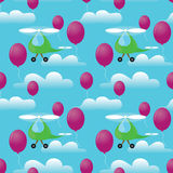 Helicopters seamless pattern Stock Image