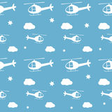 Helicopters seamless pattern Royalty Free Stock Photography