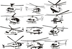 Helicopters set Stock Photo