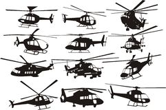 Helicopters set Royalty Free Stock Photography