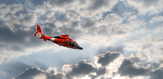 Helicoptor in the sky Stock Image