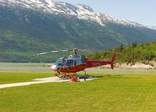 A helicoptor used for tours in alaska Royalty Free Stock Photography