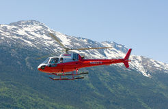 A helicoptor used for tours in alaska Stock Images