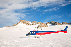 Helicoptor with winter landscape Stock Image