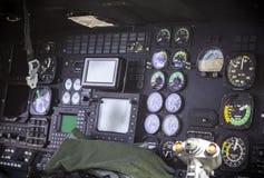 Helicoter pilot cockpit Royalty Free Stock Photos