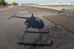 Helicoter skugga Royaltyfri Bild