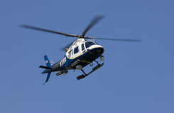 Helicóptero de NYPD Imágenes de archivo libres de regalías