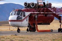 Helicóptero del incendio forestal Foto de archivo