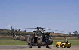 Helicóptero del puma de Aerospatiale SA-330H Foto de archivo