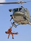 Helicóptero sanitario del ejército de Huey UH1-N Foto de archivo libre de regalías