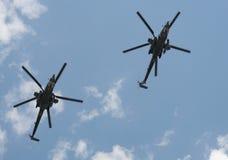 Helicópteros de ataque Mi-28N y x22; Noche Hunter& x22; Imagen de archivo