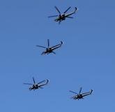 Helicópteros militares rusos Imagen de archivo libre de regalías