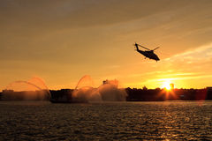 Helictoper Sunset Royalty Free Stock Image