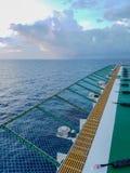 Helideck a pouca distância do mar Foto de Stock