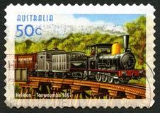 Helidon Toowoomba-Fahrdienst-zur australischen Briefmarke Stockbild
