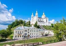 Helig antagandedomkyrka av antagandet och kloster för helig ande Vitebsk Vitryssland Royaltyfri Bild