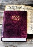 Helig bibel och Amerika Arkivfoto