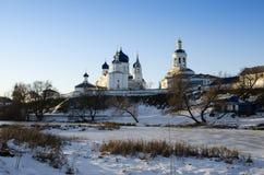 Helig Bogolyubovo klostervinter Royaltyfri Foto
