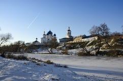 Helig Bogolyubovo klostervinter Arkivbilder
