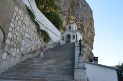 Helig Dormition kloster i Krim i sommar royaltyfria bilder