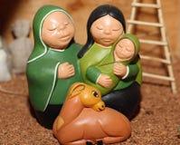 Helig familj i söder - amerikansk version med en lama Royaltyfri Bild