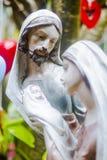Helig familj och Jesus, fokus Joseph Arkivbild