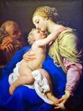 Helig familj som målar vid Pompeo Batoni Arkivbild