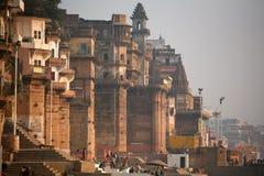 helig india för stad vanarasi Arkivfoto