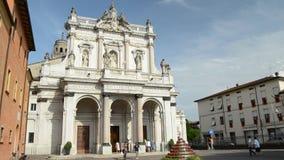 Helig katolik Marian Sanctuary i staden av Fontanellato, Parma, Italien arkivfilmer