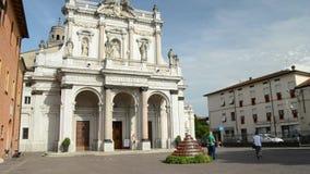 Helig katolik Marian Sanctuary i staden av Fontanellato, Parma, Italien lager videofilmer