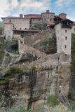 Helig kloster av stora Meteoron Arkivbild