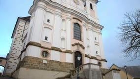 Helig kristen poestlingbergkyrka i Linz Upper Austria lager videofilmer