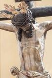 Helig Kristus av hälsa av brödraskapet av CarreterÃa, påsk i Seville Arkivfoton
