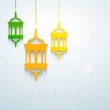 Helig månad för muslimsk gemenskap av Ramadan Kareem. royaltyfri illustrationer